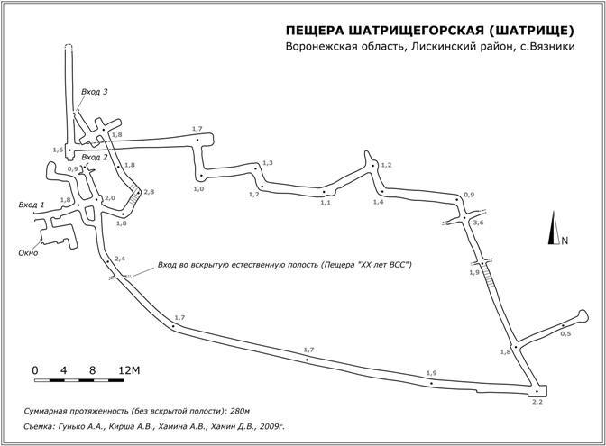 План-схема пещеры Шатрище